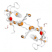 CST3  protein 3D structural model from Catalog of Somatic Mutations in Cancer originally published in the paper COSMIC: somatic cancer genetics at high-resolution