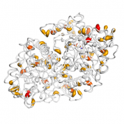 ENO2   protein 3D structural model from Catalog of Somatic Mutations in Cancer originally published in the paper COSMIC: somatic cancer genetics at high-resolution