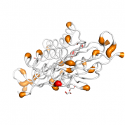 TTC33  protein 3D structural model from Catalog of Somatic Mutations in Cancer originally published in the paper COSMIC: somatic cancer genetics at high-resolution