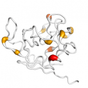 PPIL3  protein 3D structural model from Catalog of Somatic Mutations in Cancer originally published in the paper COSMIC: somatic cancer genetics at high-resolution