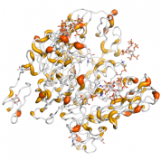 WIF1  protein 3D structural model from Catalog of Somatic Mutations in Cancer originally published in the paper COSMIC: somatic cancer genetics at high-resolution