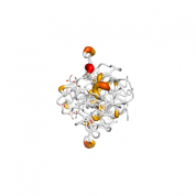 YOD1  protein 3D structural model from Catalog of Somatic Mutations in Cancer originally published in the paper COSMIC: somatic cancer genetics at high-resolution