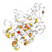 ZADH2  protein 3D structural model from Catalog of Somatic Mutations in Cancer originally published in the paper COSMIC: somatic cancer genetics at high-resolution